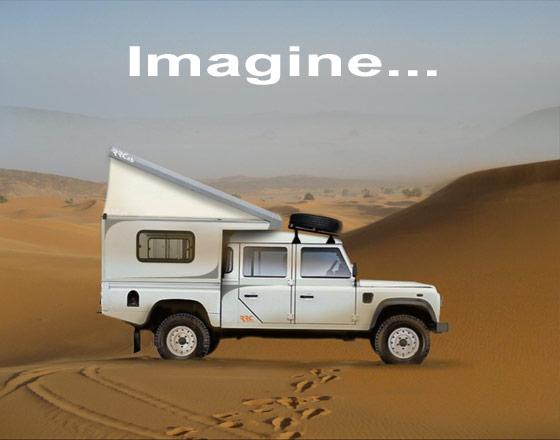 rr concept toit relevable chambre de toit mezzazine land rover defender voyage tout. Black Bedroom Furniture Sets. Home Design Ideas